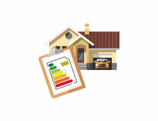Icon graphic for Mantis Energy showing a home energy performance certificate (EPC)